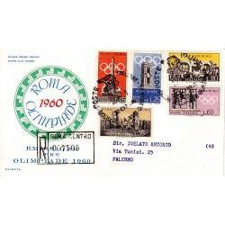 FDC ITALIA 1959 OLIMPIA - 861 - Preolimpica, propaganda per la 17°olimpiadi di Roma del 1960 annullo speciale Roma Raccomandata