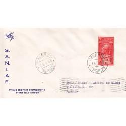 FDC ITALIA 1958 S.A.N.I.A.F. - PN20 - Testa di Minerva - Posta Pneumatica a/PA viaggiata