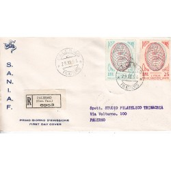 FDC ITALIA 1956 S.A.N.I.A.F. - 806 - Ammissione dell´Italia all´ONU A/PA Raccomandata