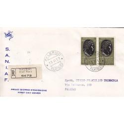 FDC ITALIA 1957 S.A.N.I.A.F. - 809 - Bimillenario della nascita di Publio Ovidio Nasone A/PA Raccomandata