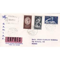 FDC ITALIA 1957 S.A.N.I.A.F. - 812 - Bicentenario della nascita di Antonio Canova A/PA Raccomandata