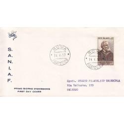 FDC ITALIA 1957 S.A.N.I.A.F. - 819 - 50º anniversario della morte di Giosue Carducci A/Roma