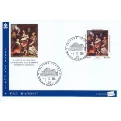 FDC ITALIA 42/a/2014 Santo Natale - Religioso € 0,80 annullo Palermo