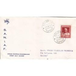 FDC ITALIA 1957 S.A.N.I.A.F. - 821 - Bimillenario della morte di Cicerone A/PALERMO Viaggiata