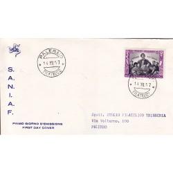 FDC ITALIA 1957 S.A.N.I.A.F. - 824 - Centenario della morte di san Domenico Savio annullo Palermo viaggiata