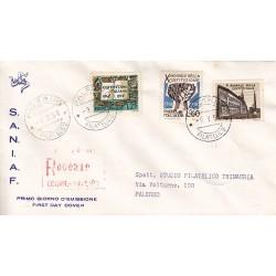 FDC ITALIA 1958 S.A.N.I.A.F. - 829 - Decennale della costituzione italiana annullo Palermo in raccomandata