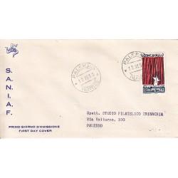 FDC ITALIA 1958 S.A.N.I.A.F. - 834 - Centenario della nascita di Ruggero Leoncavallo Annullo Palermo viaggiata