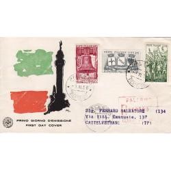 FDC ITALIA 1958 S.A.N.I.A.F. - 843 40º Anniversario della Vittoria nella prima guerra mondiale - Annullo Palermo Raccomandata