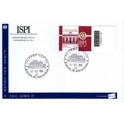 FDC ITALIA 06/2014 I.S.P.I. Istituto studi politica Int. A/PA codice a barre db