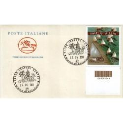 FDC ITALIA 2013 POSTE ITALIANE - Dinghy 12 codice a barre bd a/TP