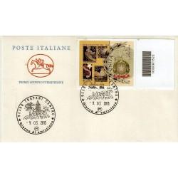 FDC ITALIA 2013 POSTE ITALIANE - Paolo Paschetto codice a barre ad a/TP