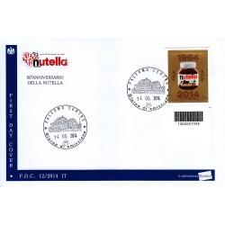 FDC ITALIA 12/2014 - Nutella - a/Palermo codice a barre