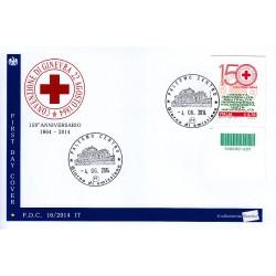 FDC ITALIA 16/2014 Croce Rossa annullo Palermo codice a barre