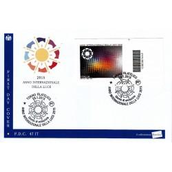 FDC - ITALIA 47/2015 Anno della luce a/s Torino - codice a barre da