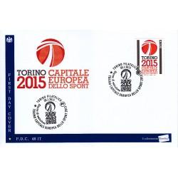 FDC - ITALIA 48/2015 Torino 2015 Capitale Europea Sport a/s