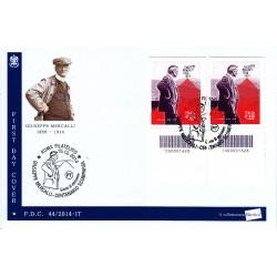 FDC ITALIA 44/2014 - Giuseppe Mercalli a/s Roma codice a barre bd-bs
