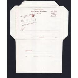 FDC ITALIA Biglietto Postale B60 30/09/1989 Primo Biglietto Postale nuovo