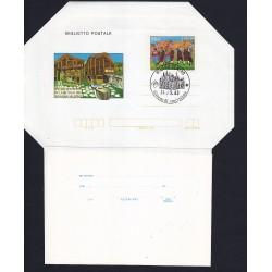 FDC ITALIA Biglietto Postale B55 24/09/1983 WALSER VIII RADUNO AS/MILANO