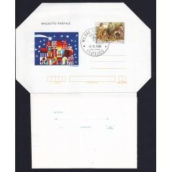 FDC ITALIA Biglietto Postale B54 02/12/1982 NATALE 82 AF/MILANO