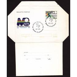 FDC ITALIA Biglietto Postale B50 26/08/1978 BASEBALL - AF/ROMA