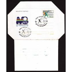 FDC ITALIA Biglietto Postale B50 26/08/1978 BASEBALL - AS/RIMINI