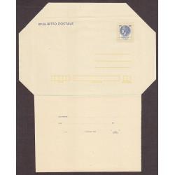 FDC ITALIA Biglietto Postale B48 30/06/1977 SIRACUSANA £ 120 - Nuovo