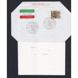FDC ITALIA AEROGRAMMA A22 26/11/1984 NATALE '84 AS/ROMA