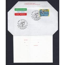 FDC ITALIA AEROGRAMMA A21 30/01/1984 SCI ORIENTAMENTO AS/LAVARONE