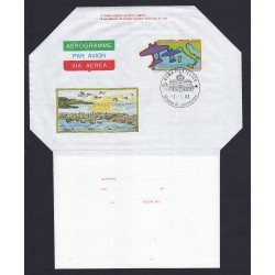 FDC ITALIA AEROGRAMMA A20 01/07/1983 2° TRASVOLATA ALTANTICA AF/ROMA