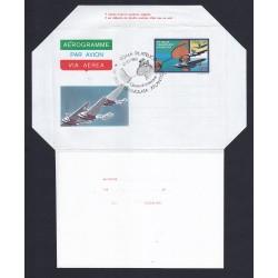 FDC ITALIA AEROGRAMMA A13 10/10/1980 TRASVOLATA ATLANTICA - AF/ROMA