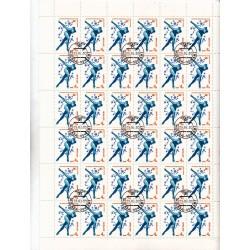 Russia - CCCP - Foglio Intero - Scott 4807 4K 1980 - SPORT Pattinaggio