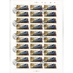 Russia - CCCP - Foglio Intero - Scott 5046 10K 1982- TRENI - LOCOMOTIVE