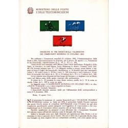 Italia Bollettino Postale Illustrato n°85 30/08/1962 Campionati Mondiali di Ciclismo