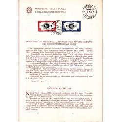 Italia Bollettino illustrativo 1962 n°82 Antonio Pacinotti annullo primo giorno