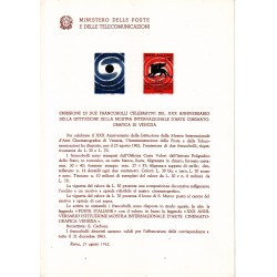 Italia Bollettino illustrativo 1962 n°84 Mostra Cinema Venezia