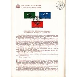 Italia Bollettino illustrativo 1962 n°85 Campionati Mondiali di Ciclismo APG