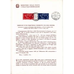 Italia Bollettino illustrativo 1962 n°86 EUROPA CEPT APG