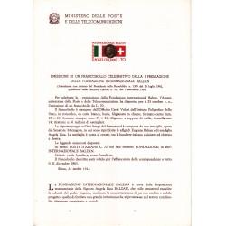 Italia Bollettino illustrativo 1962 n°87 Fondazione Balzan