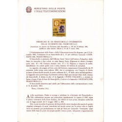 Italia Bollettino illustrativo 1962 n°89 Giornata del Francobollo