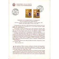 Italia Bollettino illustrativo 1962 n°89 Giornata del Francobollo FDC