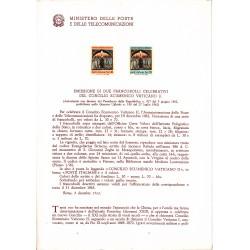 Italia Bollettino illustrativo 1962 n° 90 Concilio Ecumenico Vaticano II