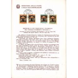 Italia Bollettino illustrativo 1962 n° 90 Concilio Ecumenico Vaticano II fdc