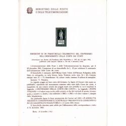 Italia Bollettino illustrativo 1962 n° 91 Corte dei Conti
