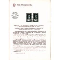 Italia Bollettino illustrativo 1962 n° 91 Corte dei Conti fdc