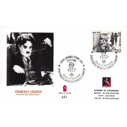 FDC ITALIA Grolla Club 23/09/1989 Charles Chaplin AS/BOARIO