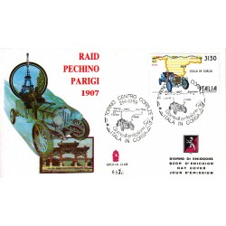 FDC ITALIA Grolla Club 21/01/1989 Raid Parigi Pechino AS/TO