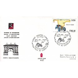 FDC ITALIA Grolla Club 21/01/1989 Raid Parigi Pechino AS/TO APG