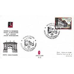 FDC ITALIA Grolla Club 31/03/1989 Scuole d'italia Liceo Parini APG