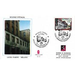 FDC ITALIA Grolla Club 31/03/1989 Scuole d'italia Liceo Parini