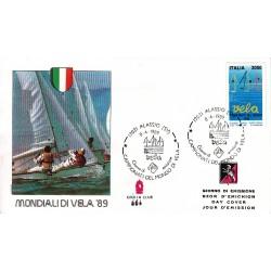 FDC ITALIA Grolla Club 08/04/1989 Campionati di Vela